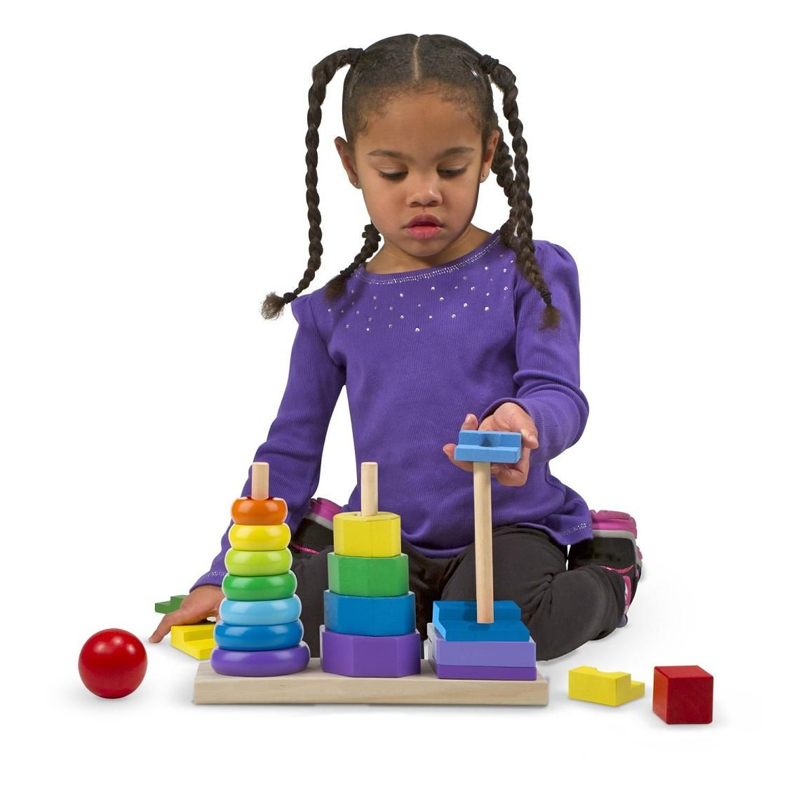 Toys and Co. | Geometric Stacker | Melissa & Doug
