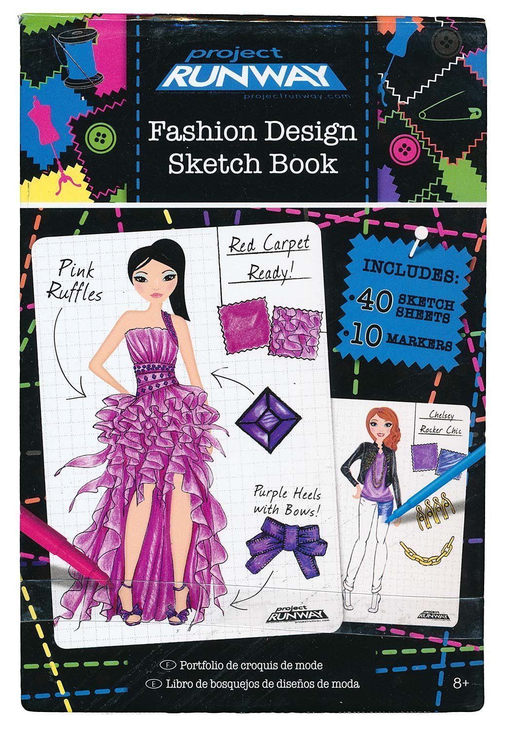Toys And Co Project Runway Fashion Sketchbook Fashion Angels